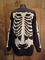 画像2: BALZAC BONE BIG SWEAT (BLACK) (2)