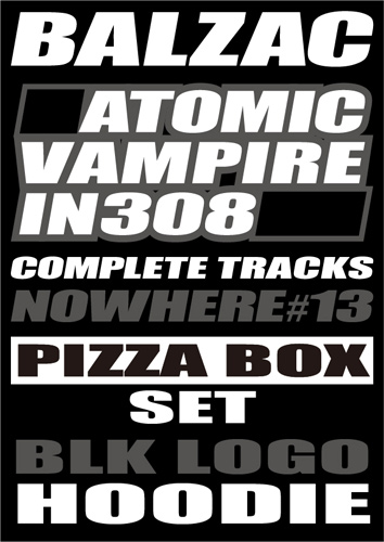 画像1: 『NOWHERE #13』 PIZZA BOX SET (PULLOVER PARKA -BK/BK-ver.) (1)