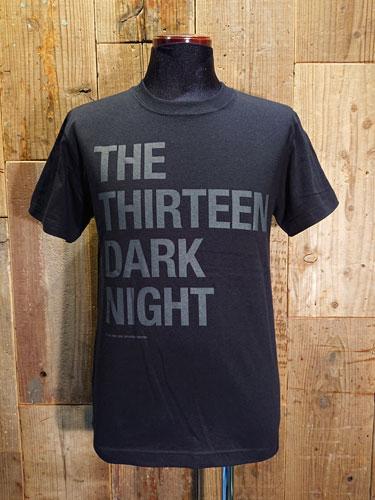 画像1: THE THIRTEEN DARK NIGHT SIMPLE LOGO T-SHIRT (BK) (1)