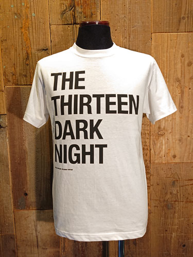 画像1: THE THIRTEEN DARK NIGHT SIMPLE LOGO T-SHIRT (WH) (1)