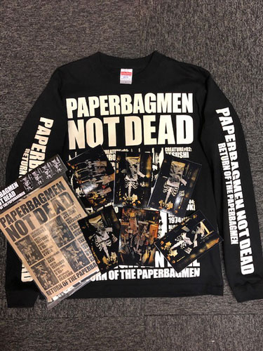 画像1: 『PAPERBAGMAN NOT DEAD』LONG SLEEVE T-SHIRT SPECIAL PACKAGE(生写真6枚付き) (1)