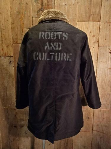 画像1: Roots and Culture N-1 Deck Jacket Long (BLACK) (1)