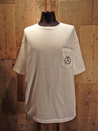 "画像1: ""A"" Pocket Big Tee (WHITE) (1)"