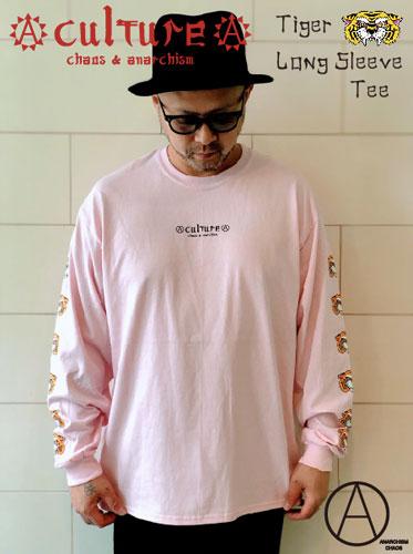 画像1: Tiger Long Sleeve Tee (LIGHT PINK) (1)
