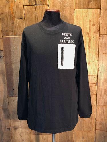 画像1: Shaun Boa Pocket Long Sleeve tee (Black) (1)