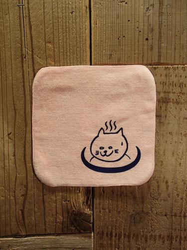 画像1: 温泉猫 HANDKERCHIEF TOWEL (L.PK) (1)