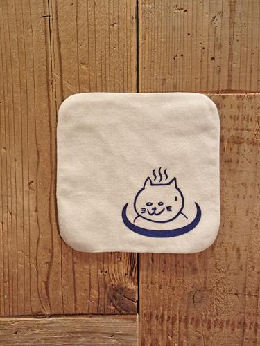 画像1: 温泉猫 HANDKERCHIEF TOWEL (WH) (1)