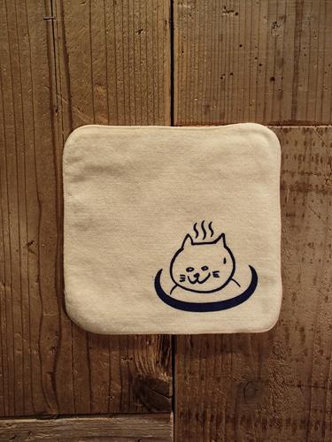 画像1: 温泉猫 HANDKERCHIEF TOWEL (L.YE) (1)