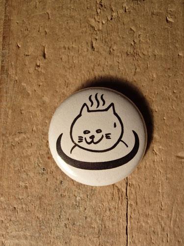画像1: 温泉猫 25mm BADGE (1)