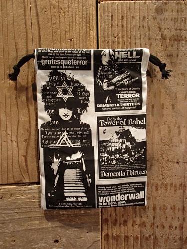 画像1: D-13 COLLAGE mini 巾着袋 (1)