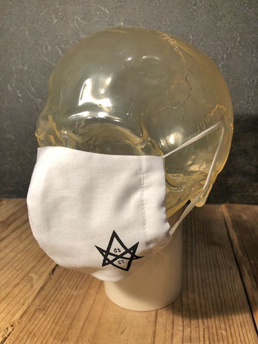 画像1: D-13 HEXAGRAM COTTON ETIQUETTE MASK (WH) (1)