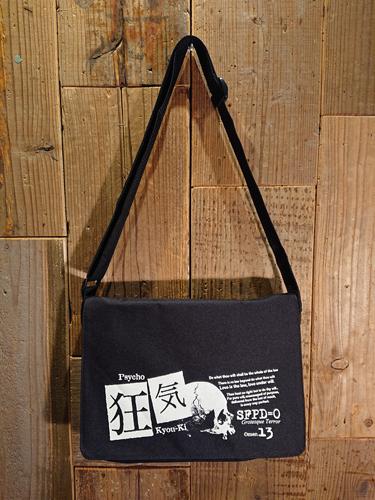 画像1: 『KYOU-KI・狂気』SHOULDER BAG (BK) (1)