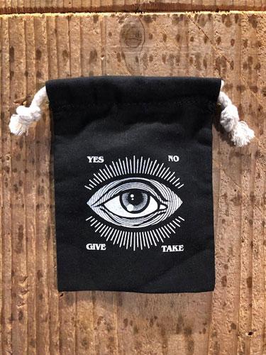 画像1: D-13 OUIJA 巾着袋 (BK-Sサイズ) (1)