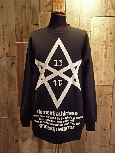 画像1: HEXAGRAM BIG SWEAT (BLACK) (1)