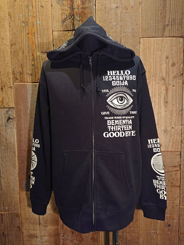 画像1: D-13 OUIJA ZIP UP PARKA (BK) (1)