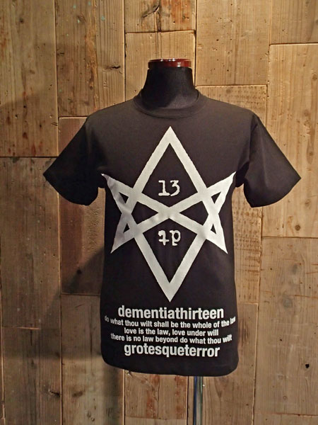 画像1: HEXAGRAM REGULAR T-SHIRT (BK) (1)