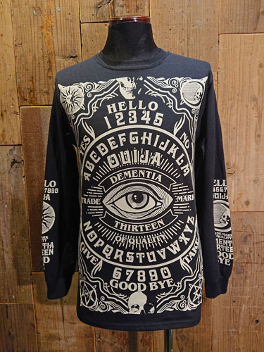 画像1: D-13 OUIJA LONG SLEEVE T-SHIRT (BK) (1)