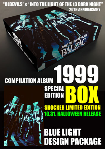 """画像1: 『1999 - """"OLDEVILS"""" & """"INTO THE LIGHT OF THE 13 DARK NIGHT"""" 20TH ANNIVERSARY EDITION』 SPECIAL LIMITED EDITION BOX SET(BLUE LIGHT DESIGN PACKAGE) (1)"""