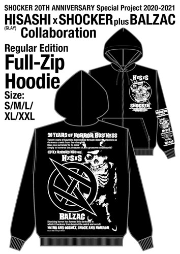 画像1: HISASHI (GLAY)  × SHOCKER + BALZAC FULL-ZIP HOODIE 〜REGULAR ver.〜 (1)